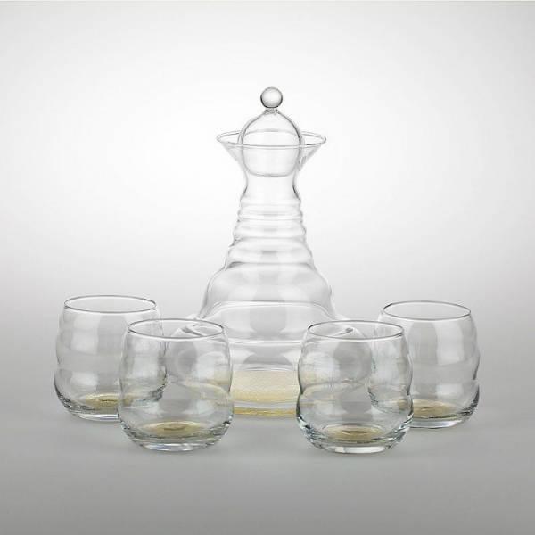 Nature´s Design Karaffe Golden Alladin inkl. 4 Gläser