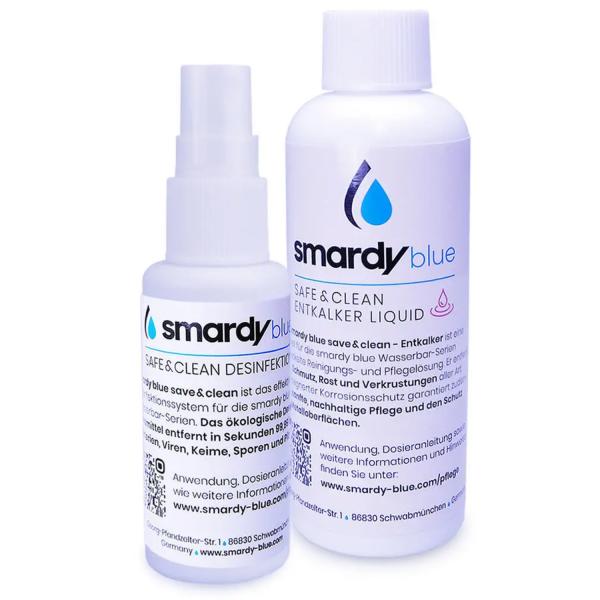 SmardyBlue Desinfektions- und Entkalkungsset | safe & clean | tata™, noura™, zagora™