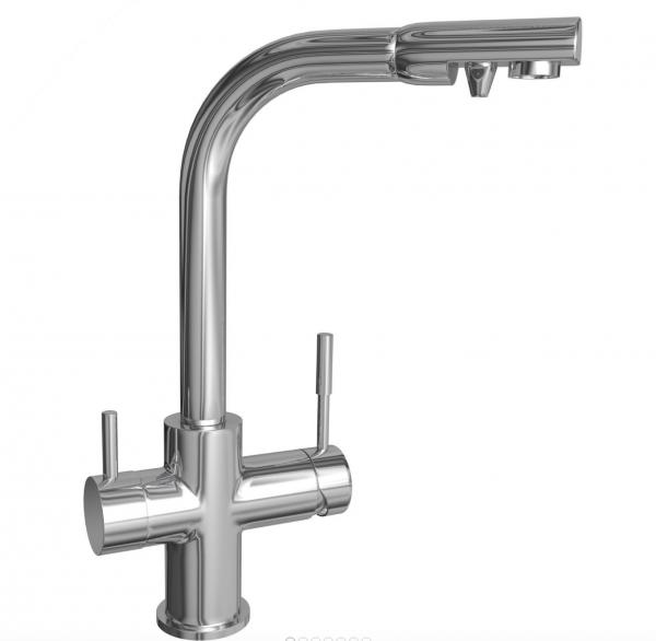 Wasserhahn 4in1 | PARIS PLUS (für 2 Sorten Filterwasser)