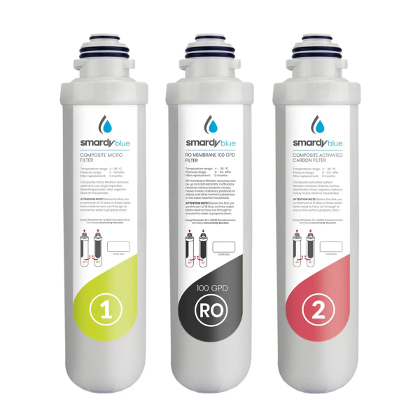 SmardyBlue 3in1 Ersatzfilter-Set (100GPD) für tata™