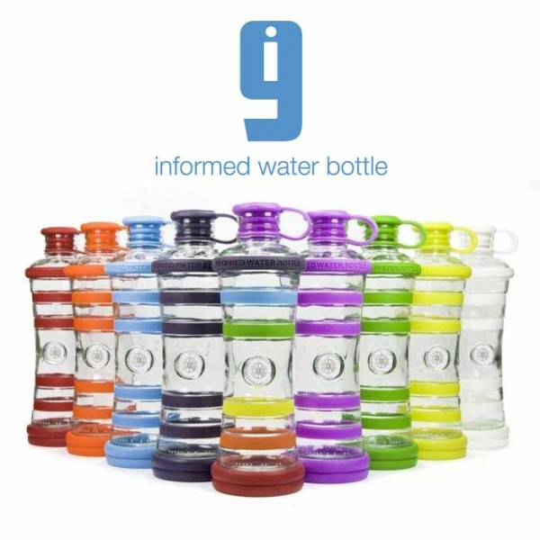 i9 Bottle Chakra | informierte Glasflasche in 9 Farben