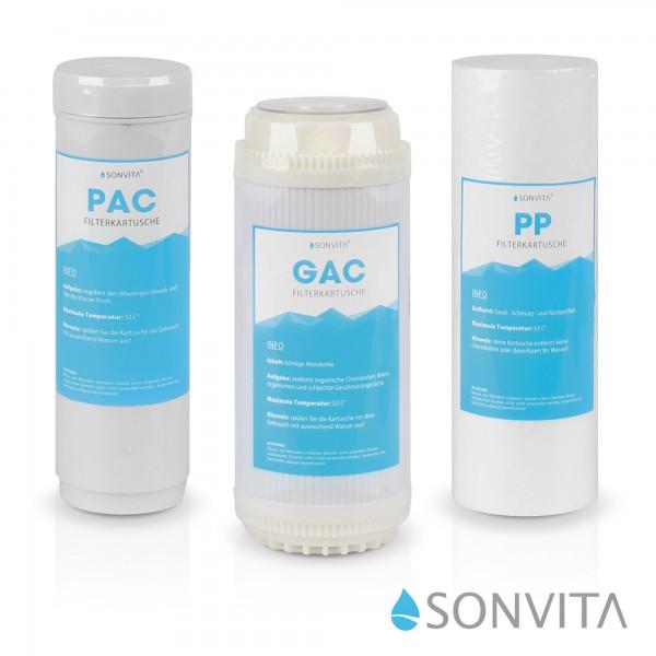 Ersatzfilterset Sonvita Puraqua Touch 800GPD (1/2 Jahresset)