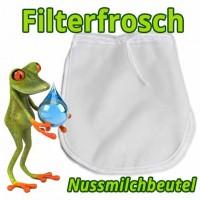 Nussmilchbeutel ❀ Filterfrosch Nylon & Hanf   Feinheit 200μm